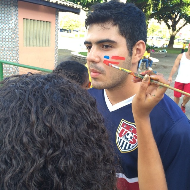 Free face-painting outside the stadium! #nytcup #usavsbel